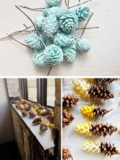 DIY Dipped Pincones  Perfect for the Fall!
