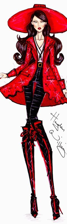 Hayden Williams | House of Beccaria~ Love the red!