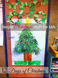 12 Days of Christmas | DAY 3: Simple kids craft #christmascraft #christmas #craft #kidscraft #christmastree #tree 12 Days Of Christmas, Christmas Crafts, Christmas Tree, Easy Crafts For Kids, Pre School, Special Occasion, Simple, Creative, Teal Christmas Tree