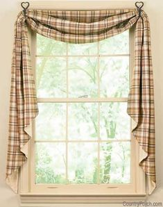 The Country Porch Features Thyme Fishtail Curtain Swags From Park Designs.