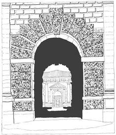 Giulio Romano, Palazzo Te, Mantova, Italia, 1525-1535 | drawn by Riccardo Salvi