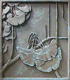 Motawi Tiles Ginko | Tile | Art Tile