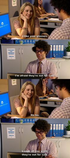 """Here's a more complete version of this sketch from The IT Crowd S04-E05 """"Bad Boys"""". Gawd! He is soooo naive! LOL"""
