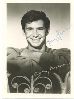 signed photo of Anthony Perkins