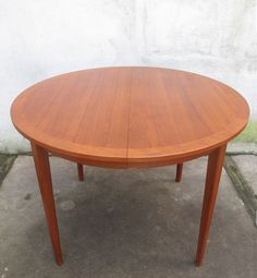 SWEDISH MODERN ROUND TEAK DINING TABLE