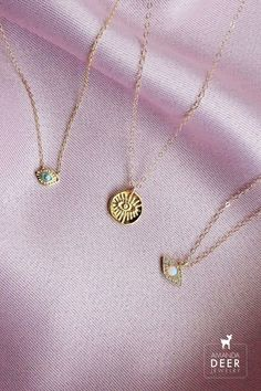 Bad vibes be gone. Our evil eye necklaces ward off any bad juju! Evil Eye Jewelry, Evil Eye Necklace, Initial Necklace, Arrow Necklace, Gold Necklace, Eye Symbol, Evil Eye Charm, Dainty Jewelry, Lucky Charm