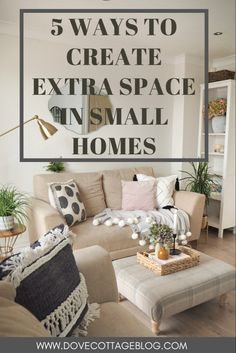 How to create extra space in small homes. From clever tricks of the eye to regular decluttering, storage solutions and how to make the most of the space you have in your home. Interior styling and home decor tips Space Saving Storage, Storage Spaces, Small Space Living, Small Spaces, Home Interior Design, Interior Styling, Home Tech, Small Bedroom Designs, Trendy Home Decor