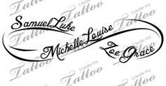 childrens names tattoo - Google-haku