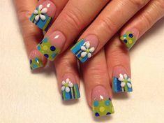 dots and stripes by Oli123 - Nail Art Gallery nailartgallery.nailsmag.com by Nails Magazine www.nailsmag.com #nailart