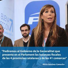 Pediremos al Gobierno de la Generalitat que presente en el Parlament las balanzas fiscales de las 4 províncias catalanas y de las 41 comarcas