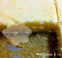 BeckyCharms and Co.: Lemony Lemonies Luscious Lemon Brownies