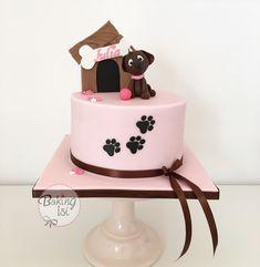 Puppy, dog, Welpe, cake, Torte, Fondant, pink, girl, Birthday, Geburtstag, Geburtstagstorte, caketopper