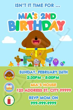 Each personalized party invitation is custom made with your childs name and party details. Impress their friends and yours with a high quality, personalized invite of their favourite character. Leo Birthday, Baby First Birthday, 4th Birthday Parties, Birthday Ideas, Puppy Party, Birthday Party Invitations, First Birthdays, Party Time, Party Ideas