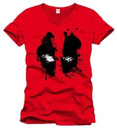 Camiseta Splash Head. Deadpool. Marvel Cómics Estupenda camiseta con la imagen de la cara manchada del personaje e inquietante Deadpool, de nombre Wade Winston Wilson, un mercenario mentalmente inestable 100% oficial y licenciada.