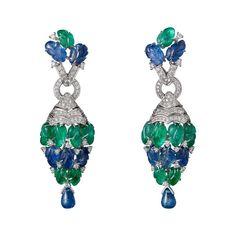 Cartier Étourdissant emerald, sapphire and diamond earrings
