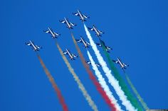 The Frecce Tricolori are the current Italian Air Force aerobatic display team. The team is a separate unit from the Air Force - 313° Gruppo Addestramento Acrobatico or Pattuglia Acrobatica Nazionale (PAN) on Italian language.The team consist of 13 Italian-made Aermacchi MB339 jet trainers, only ...