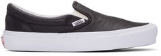 Vans: Black OG Classic Slip-On Sneakers | SSENSE