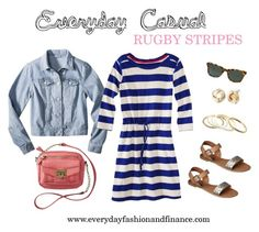 Everyday Casual Rugby Stripes by meghancrane on Polyvore featuring Merona, Xhilaration, Mossimo Supply Co. and target