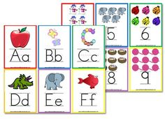 Hi everyone! I've had many requests to add some printable alphabet flashcards to my Letter of the Week preschool curriculum, so in response to the demand…voila! I created 5×7 alphabet wall posters that you can hang in your school room. The download includes both manuscript and cursive fonts for the entire alphabet along with numbers 0-9:   I also created…