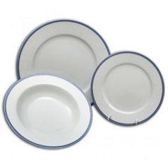 Vyberte si u nás unikátny porcelán - Thun - Bohemia . Viac ako 200 ročná tradícia výroby porcelánu, špičková kvalita a vysoký štandard to sú atribúty , ktoré definujú výrobky THUN Bohemia. Bohemia porcelán - Nová Role pri Karlových Varoch. Český porcelán - vyrobené v ČR. Súprava tanierov pre 6 osôb obsahuje taniere : hlboký, priemer 22 cm, 6 ks plytký, priemer 27 cm, 6 ks dezertný, priemer 21 cm, 6 ks Výrobca nedoporučuje umývať v umývačke riadu a používať v mikrovlnnej rúre.