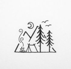 drawings doodle easy doodles designs quick tattoo discover camping
