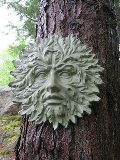 Garden Green Man - Cement Face