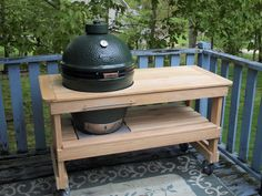 Big Green Egg Table made by bge_tables4less on Ebay.