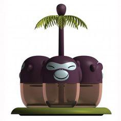 Alessi Gewürzbehälter-Set Banana Band gesehen bei design-3000: