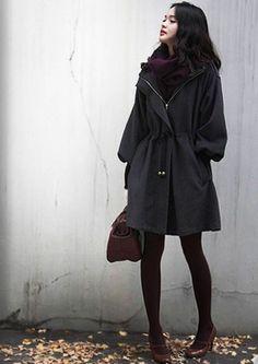 Hooded Woolen Coat