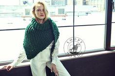Loopy Mango DIY Kit Her Shawl Chunky Merino Wool by loopymango