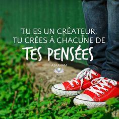 Tu es un createur, tu crées à chacune de tes pensées. You are a creator, you create with each of your thoughts ♡♡♡ www.lemondeseveille.com