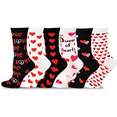 TeeHee Valentine's Day Heart and Love Women's Crew Socks ... https://www.amazon.com/dp/B00S4K61MO/ref=cm_sw_r_pi_dp_U_x_JbHQAbGW5XSMC
