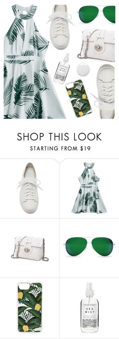 """Tropical dream"" by deeyanago ❤ liked on Polyvore featuring Santoni, Victoria Beckham, Sonix, Herbivore and Topshop"