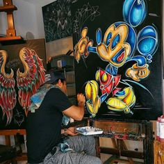 mega_mansions Art for the soul...  #MickeyMouse #Disney