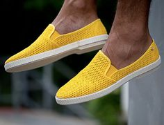 Fancy - Jaune 30° Slip-Ons by Rivieras