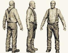 Hershel: The Walking Dead, Jamie-lee Lloyd on ArtStation at http://www.artstation.com/artwork/hershel-from-the-walking-dead