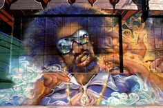 Murals and street art by graffiti artist from across the world. Mac Dre, Sky High, Creepers, Public Art, Bay Area, Beautiful Images, Old School, North America, Graffiti