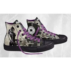 Design Your Own DC Comics x Converse Batman Arkham City Chucks ❤ liked on Polyvore featuring shoes and converse
