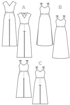Sallie Jumpsuit & Maxidress Pattern // Closet Case Files - for a jumpsuit with the waist at the right location. Also possibly for pajamas?