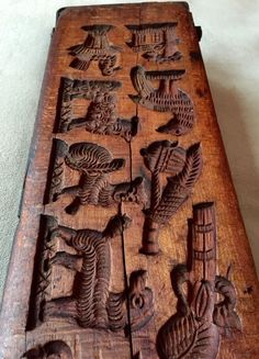 XL Antique Springerle Mold or Spekulatius Board, H. Flösech, Germany, 19thC., NR #PrimitiveFolkArt #HFlsechCrefeldKrefeldGermany