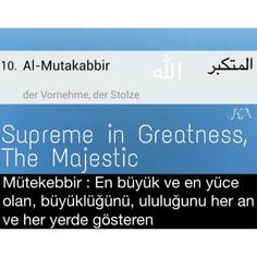The Beatiful Names of ALLAH - ALLAH'ın Güzel İsimleri  #hadith #muslim #TheHolyQuran #islam #Allah #TheProphetMuhammad (PBUH)