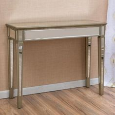 7d7ce908b487d4 Karla Silver MDF vintage console table, $173.09, walmart.com Sofa End Tables ,