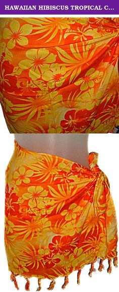 6ed4f99e4a HAWAIIAN HIBISCUS TROPICAL CHILDREN'S GIRLS SHORT SARONG. Smaller children  could wrap them around twice and others just once.