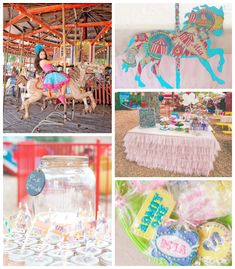 Vintage Amusement Park themed birthday party via Kara's Party Ideas KarasPartyIdeas.com Cake, decor, printables, favors, desserts, ect! #vintagecarnival #amusementparkparty (2)