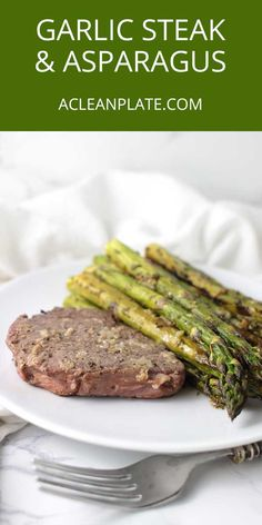 AIP Garlic Steak with Lemon-Pepper Asparagus recipe from acleanplate.com via @acleanplate