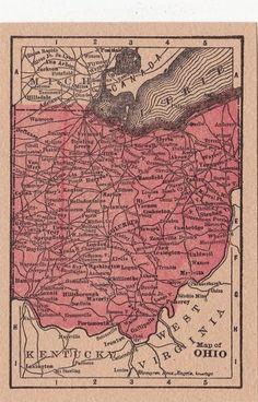 1889 Ohio Map Detailed