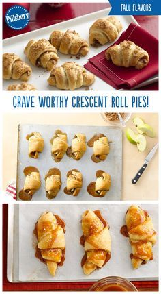 Warm up this season with these fall flavored crescents! Roll up Pecan Pie, Pumpkin Pie and Apple Pie in these delicious crescents. Save time in the kitchen and make these fun crescents for Thanksgiving and Friendsgiving!