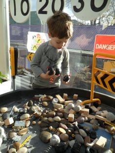 Under Construction small world play @ New Horizons Preschool