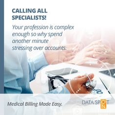 It is paramount that your medical accounts management company has a considerable amount of experience under their belt. Our team at Data Spot-On boasts extensive administrative qualificationsand proven medical administration experience. Medical Billing, Management Company, Accounting, Rest, Coding, Programming