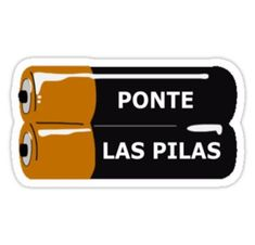 """Ponte Las Pilas"" Stickers by Eversinceny Meme Stickers, Tumblr Stickers, Cool Stickers, Printable Stickers, Laptop Stickers, Planner Stickers, Snapchat Logo, Snapchat Stickers, Hamilton Wallpaper"